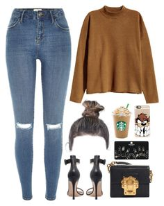 """""""16 November, 2016"""" by jamilah-rochon ❤ liked on Polyvore featuring H&M, Topshop, Casetify, River Island, Dolce&Gabbana and Gianvito Rossi"""