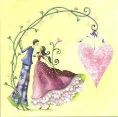 Postkarte mit Glitter