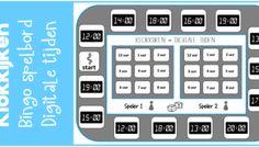 Klokkijken | bingo spelbord: digitale tijden