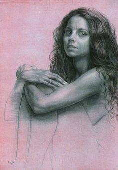 Julia, ink and wash, Steve Assael