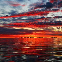 Red sky on the Water