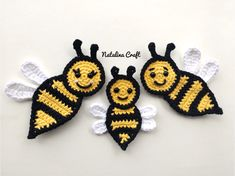 Free Crochet Patterns: Appliques – Bees