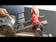 Como fazer serra circular de bancada caseira. - parte 1/ how to make table saw. - part 1 - YouTube