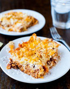 Chips, Cheese, and Chili Casserole.