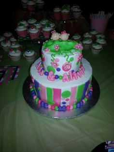 Pic is dark but shows detail better/ Two Peas in A Pod baby shower cake