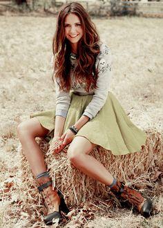 Nina dobrev , she is so natural pretty!!!
