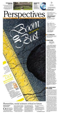 Boom or Bust #Newspaper #GraphicDesign #Design #Layout