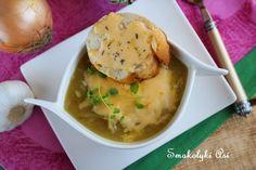 Smakołyki Asi: Zupa porowo-cebulowa z serowymi grzankami