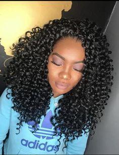 Curly Crochet Hair Styles, Curly Hair Styles, Natural Hair Styles, Crotchet Braids, Crochet Braids Hairstyles, Fishtail Braids, Waterfall Braids, Haircut Styles For Women, Short Haircut Styles