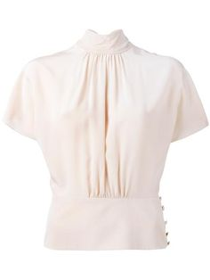 RED VALENTINO high neck shortsleeved blouse. #redvalentino #cloth #blouse