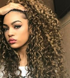 New Women Afro Long Kinky Curly Hair Wavy Wigs Lace Front Wig Party Cosplay , Kinky Curly Hair, Long Curly Hair, Big Hair, Curly Hair Styles, Frizzy Hair, Curly Girl, Love Hair, Gorgeous Hair, Hair Looks
