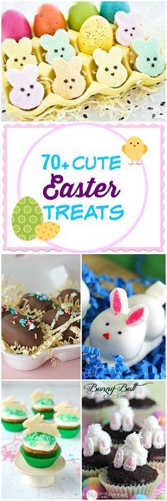 Have you been looking for those cute, edible Easter treats? Here's a collection of more than 70 Cute Easter Treats.