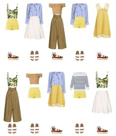 ideas travel clothes women summer my style Spring Fashion Outfits, Cute Summer Outfits, Girl Fashion, Trendy Fashion, Fashion Tips, Romantic Style Fashion, Core Wardrobe, Summer Wardrobe, Capsule Wardrobe