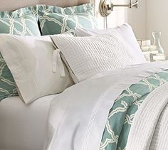 Just purchased the Kendra Trellis Duvet Cover & Sham - Porcelain Blue #potterybarn