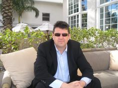 HARD ROAD author J.B. Turner pictured outside The Tides hotel, South Beach. http://www.jbturnerauthor.com
