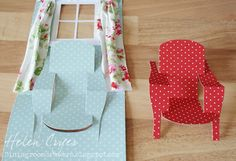 The Dining Room Drawers: Pop 'n Cuts 3-D Chair & Window Card (with Tutorial)