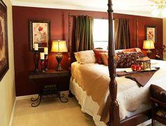 Tuscan Bedroom color ideas....perfect idea since i cant do an extavagant million dollar house