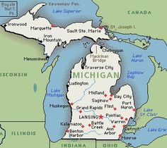 Michigan!! Yep- see Ann Arbor? Well my home sweet home is just to the southeast of it, about 20 mins