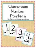 Classroom Number Posters
