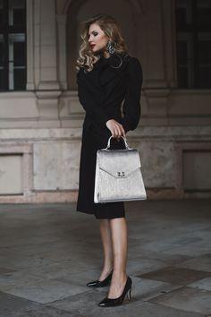 #orovicafashion #blackoutfit #outfitforoffice Black Culottes, Timeless Fashion, Dior, Suits, Chic, Womens Fashion, Design, Shabby Chic, Elegant