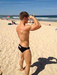 Like to meet this handsome guy on the beach or pool said Tom Hakim Beach Boy, Men Beach, Fitness Models, Guys In Speedos, Speedo Boy, Hommes Sexy, Male Body, Hot Boys, Man Stuff