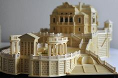 Matchstick Architecture: From Tiny Sticks, Buildings of His Dreams Popsicle Stick Crafts House, Craft Stick Crafts, Popsicle Sticks, Craft Sticks, Matchstick Craft, Pick Art, Matchbox Crafts, Bamboo Art, Interesting Buildings