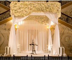 potential inspiration for ceremony altar area; florals by David Beahm; shot by Sweet Garden Creations