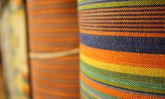 Teixits Vicens, Mallorca: artisan textile factory, Pollença. Majorcan fabrics, cloths of tongues...