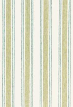 Fabric   Leah Linen Stripe in Sea Grass   Schumacher