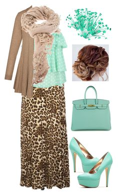 """""""Pentecostal outfits"""" by lizzie2461 ❤ liked on Polyvore featuring moda, Faliero Sarti ve Hermès"""