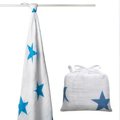 Brilliant Blue Swaddle Single available at The Infant Boutique, Adelaide.