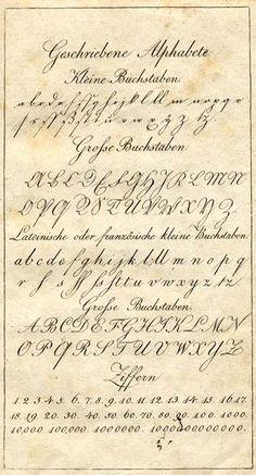 Geschrieben Alphabete. 1823.