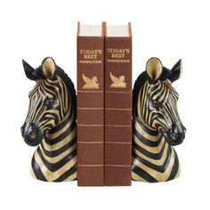Sterling Industries Pair Of Zebra Bookends