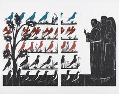 Andrea Büttner, 'Vogelpredigt,' 2010, Collezione Maramotti San Francisco, Artwork, Character, Work Of Art, Auguste Rodin Artwork, Artworks, Lettering, Illustrators