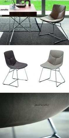 Corina Stuhl #Wohnzimmer#Esszimmer#Küche#Büro#Terrasse#Bar#Lounge#Leder#Stahl# Christoph Baum Stil Fabrik
