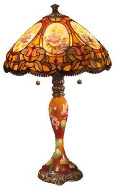 Hand painted Tiffany Lamp