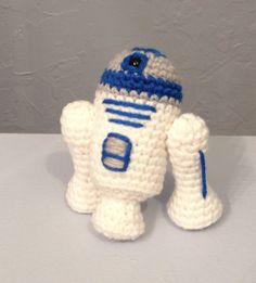 Crocheted S3-E3  Robot  Stuffed Animal  Amigurumi robot by meddywv  (No pattern - $20. at Etsy shop)