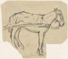Adolf le Comte | Ingespannen paard, Adolf le Comte, 1860 - 1921 |