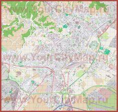 Подробная карта города Бергамо