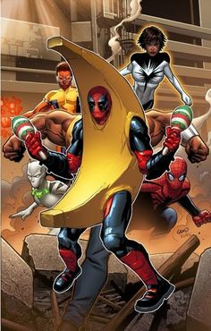 "Deadpool Bugle: Mighty Avengers #1 Deadpool ""Peanut Butter Jelly Time"" Variant/  Yeah... I can imagine him doing that in a fight!"