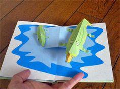 Libros Pop-Up Books Cards: Cómo Hacer un Divertido Libro Pop-Up de Animales! Arte Pop Up, Pop Up Art, Cuento Pop Up, Diy And Crafts, Paper Crafts, Origami And Kirigami, Paper Pop, Paper Engineering, Creative Kids