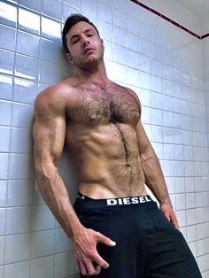 Shirtless Hunks, Hairy Hunks, Hunks Men, Hairy Men, Muscular Men, Hairy Chest, Attractive Men, Male Body, Gorgeous Men