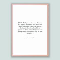 Melissa Rosenberg Quote, Melissa Rosenberg Poster, Melissa Rosenberg Print, Printable Poster, With 'Twilight,' you have these massive tom...