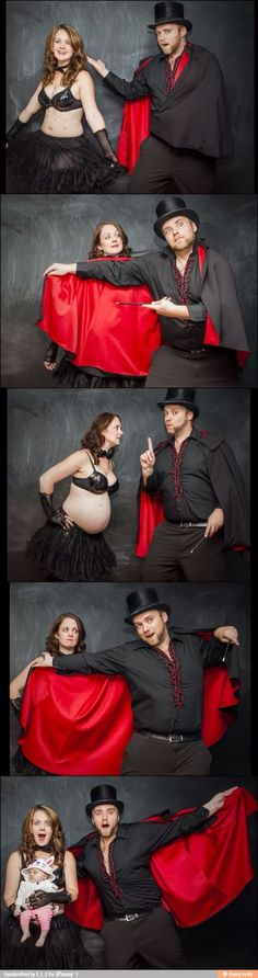 Cute maternity announcement