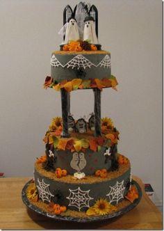 bolos do dia das bruxas noiva fantasma