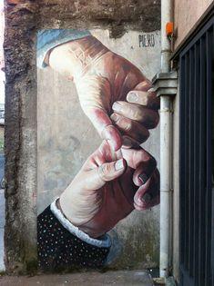 Street Art by Piero Maturana found in Concepcion in Chile #art #mural #graffiti…