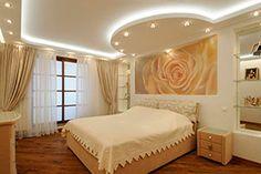 Матовые натяжные потолки в спальне фото