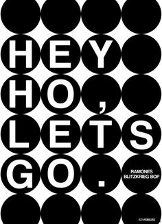 Hey ho, let's go! Music Words, Music Lyrics, Music Love, Music Is Life, Hey Ho Lets Go, 70s Rock And Roll, Black & White Quotes, Work Hard In Silence, Estilo Rock