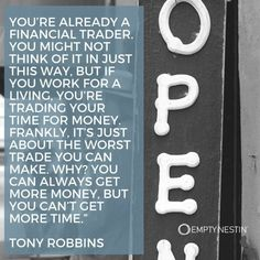 The inspirational money quotes collection is designed to inspiration, provide focus, and motivation by reading the words of the top thinkers. Finance Quotes, Money Quotes, The Thing Is, You Working, Tony Robbins, Picture Quotes, Inspirational Quotes, Good Things, Motivation