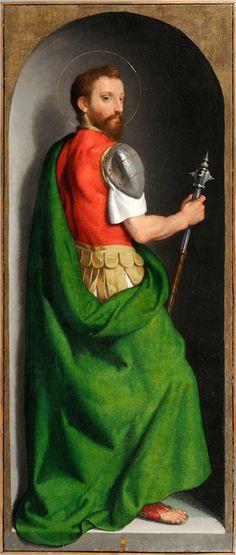 Giovan Battista Moroni - Polittico di san Bernardo - olio su tela - circa 1565 - Roncola (Bergamo, Italia), Chiesa di San Bernardo